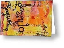 Tadpole Diagrams At Play Greeting Card