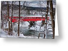 Taftsville Covered Bridge Greeting Card