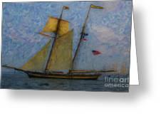 Tall Ship Sailing Greeting Card