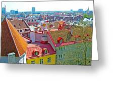 Tallinn From Plaza In Upper Old Town-estonia Greeting Card