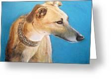 Tan Greyhound Greeting Card