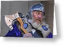Tartan Day Parade Nyc 2013 Shetland Isle Celtic Warrior Greeting Card