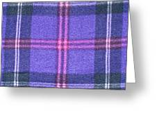 Tartan Pattern Greeting Card