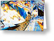 Tartaric Acid Crystals In Polarized Light Greeting Card