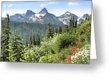 Tatoosh Mountain Greeting Card
