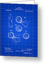 Tennis Ball Patent 1914 - Blue Greeting Card