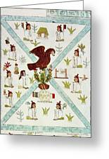 Tenochtitlan (mexico City) With Aztec Greeting Card