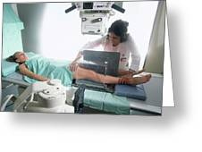 Testing Artificial Knee Greeting Card