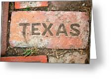 Texas Brick Greeting Card