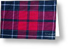 Texture Of Red-black Checkered Fabric  Greeting Card
