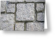 Texture Of Small Stone Structure Road  Greeting Card