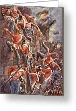 The 5th Division Storming By Escalade Greeting Card