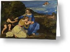 The Aldobrandini Madonna Greeting Card