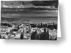 The Alhambra And Albaycin In Granada Greeting Card