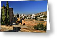The Alhambra Palace Cubo Tower Greeting Card