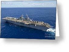 The Amphibious Assault Ship Uss Boxer Greeting Card