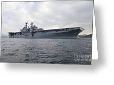 The Amphibious Assault Ship Uss Greeting Card