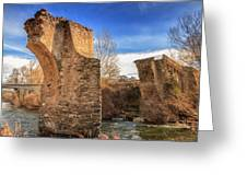 The Ancient Bridge At Ponte Novu In Corsica Greeting Card