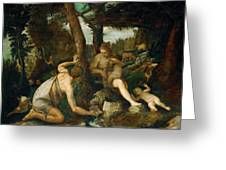 Adam And Eve After The Expulsion From Paradise Greeting Card