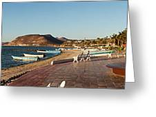 The Beachside Strolling Malecon Greeting Card