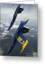 The Blue Angels Perform A Looping Greeting Card