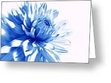 The Blue Dahlia Flower Greeting Card