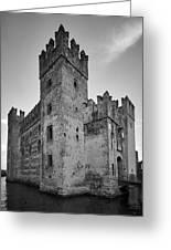 The Castle Of Sirmione. Lago Di Garda Greeting Card