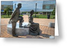 The Catherine And Milton Hershey Statue Greeting Card