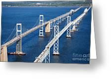 The Chesapeake Bay Bridge Greeting Card