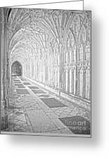 The Cloister In Gloucester Cathedral Greeting Card