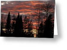 The Close Of Day Greeting Card