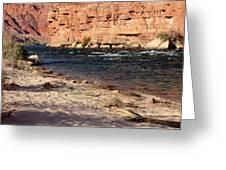 The Colorado Through Marble Canyon Greeting Card
