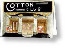 The Cotton Club Greeting Card