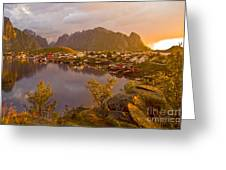 The Day Begins In Reine Greeting Card