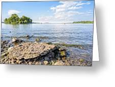 The Dnieper River In Kiev Greeting Card
