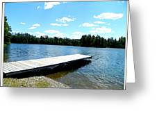 The Dock Greeting Card by Dianne  Lacourciere
