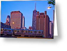 The El In Chicago  Greeting Card