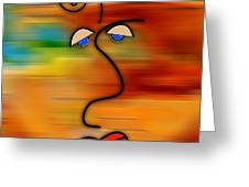 The Face Greeting Card