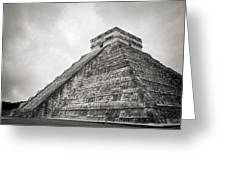 The Famous Kulkulcan Pyramid At Chichen Itza Greeting Card
