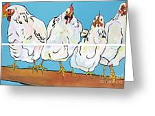 The Four Clucks Greeting Card