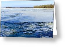 The Frozen Dnieper River Greeting Card