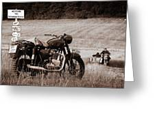 The Great Escape Motorcycle Greeting Card
