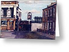 The Gun Public House Isle Of Dogs London Greeting Card
