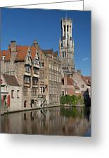 The Historic Center Of Bruges Greeting Card