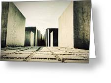 The Holocaust Memorial Berlin Germany Greeting Card