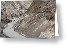The Hunza River In Pakistan Greeting Card