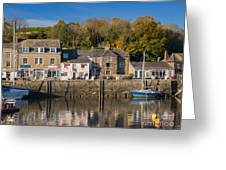 The Inner Harbour At Padstow Greeting Card