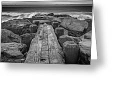 The Jetty In Black And White Greeting Card