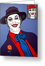 The Joker And Mom Greeting Card