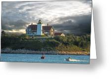 The Light At Nobska Point Photo Art Greeting Card